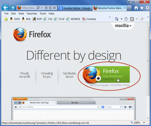Mozilla Firefox free download button